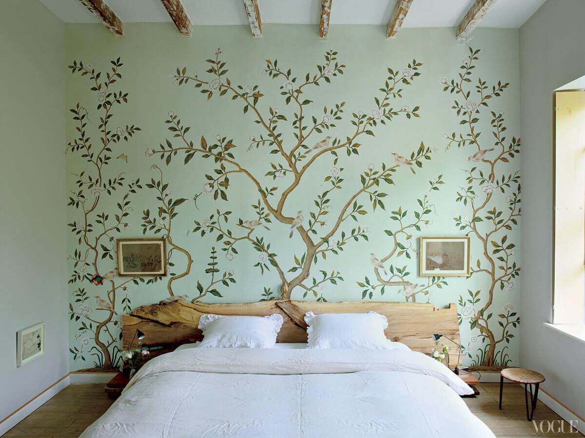 гостей будет декоративные рисунки на стенах фото тенелюбивые цветы цветут