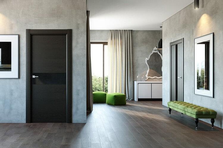 Серые двери в интерьере 33 фото межкомнатные двери серого цвета в интерьере квартиры светло- и темно-серые двери для дома оттенки серый дуб и серый кедр двери серо-голубого цвета