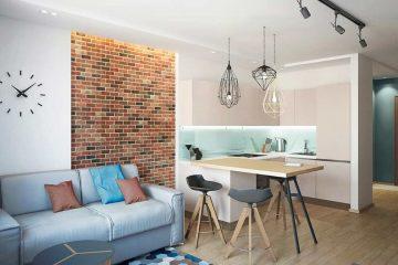 Интересные варианты дизайна квартиры-студии