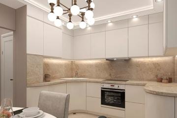 Интересные идеи дизайна кухни в современном стиле в светлых тонах