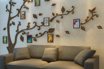 Идеи оформления стены над диваном в гостиной с фото