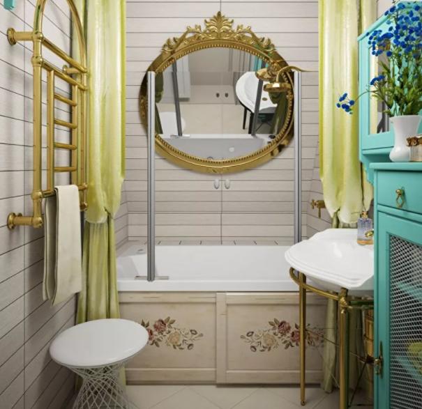Дизайн маленькой ванной в стиле Прованс