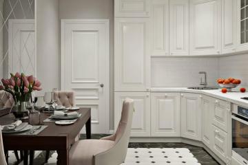 Современные идеи дизайна кухни в стиле неоклассика