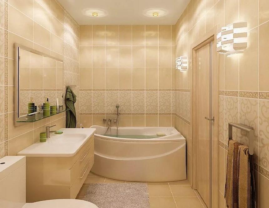пастельные тона ванной