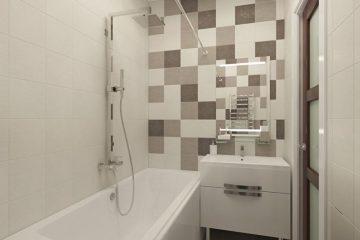 Современный дизайн ванной комнаты в хрущевке