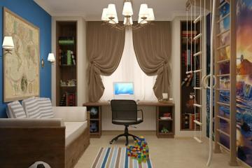 Модные идеи дизайна интерьера детской комнаты для мальчика в 2021 году