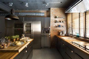 Дизайн интерьера кухни в стиле лофт в 2021 году