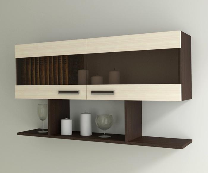 Мебель для кухни с закрытыми шкафчиками