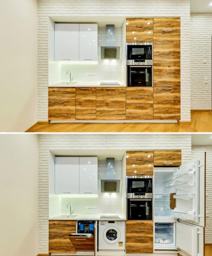 Виды планировки кухонного гарнитура